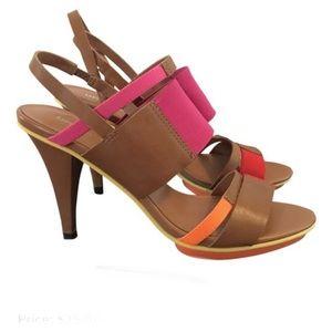 EUC United Nude Camel Sandal Heels Size 39